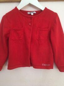 DKNY girls cardigan age 2-3