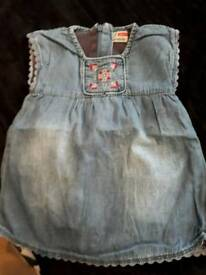 SIZE NEWBORN DENIM BLUE SLEEVELESS DRESS