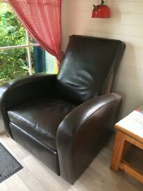 Leather modern swivel recliner chair armchair Downpatrick £45