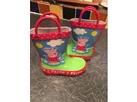 Toddler Peppa pig Wellington boots