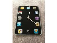 Smart phone style wall clock