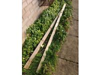 Two fence rails plus off-cuts for sale