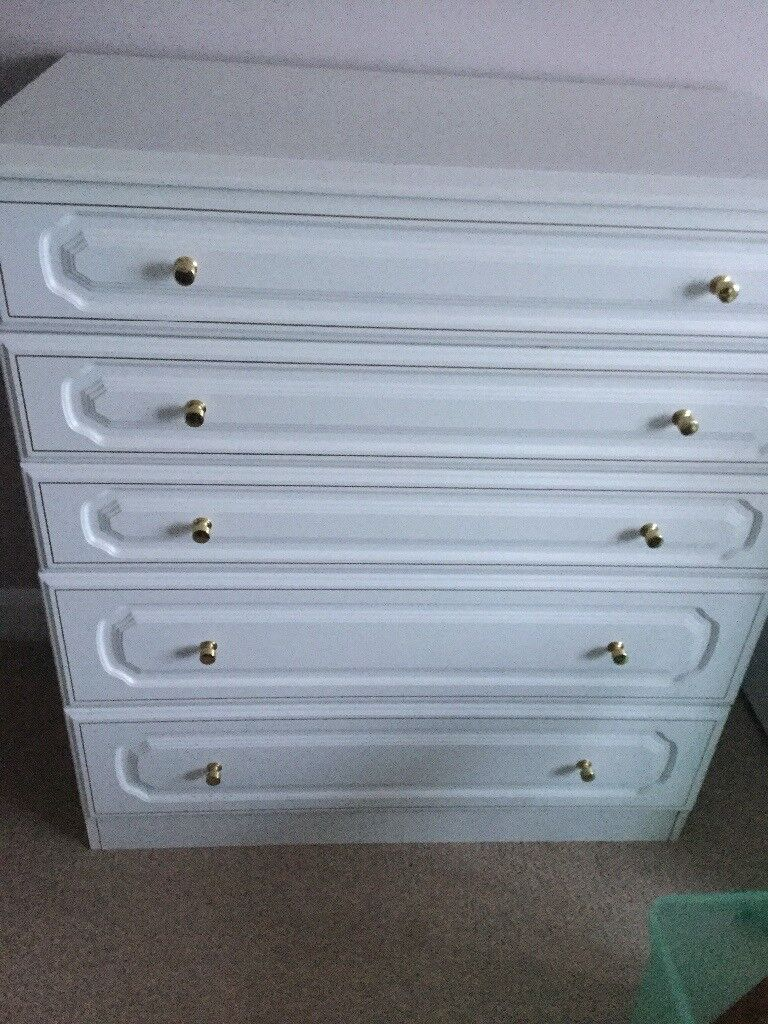 White Bedroom Draws | in Norwich, Norfolk | Gumtree