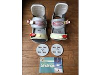 Burton Custom bindings 2000 size small.