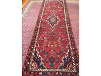 Persian handmade wool rug runner