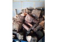 Bags of seasoned logs