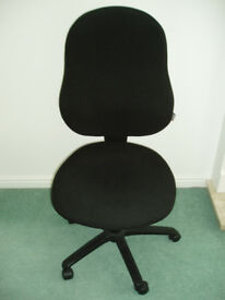 RS TO GO Sierra Permanent Contact Operators Chair Black