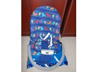 Fisher Price Cover n Play Bouncer with attached blanket for warmth