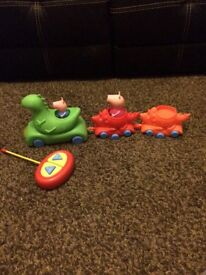 Peppa pig and George dinosaur train