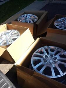 BRAND NEW TAKE OFF 2017 GMC ACADIA FACTORY OEM 20 INCH ALLOY WHEEL SET OF FOUR WITH SENSORS
