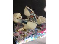 Irregular choice bridal shoes