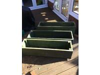 Wooden troughs (3 in total, will sell individually at £5 each)