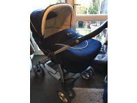 Silver cross Sleep-over Linear Pram/pushchair/Moses basket/Car seat/ Travel system