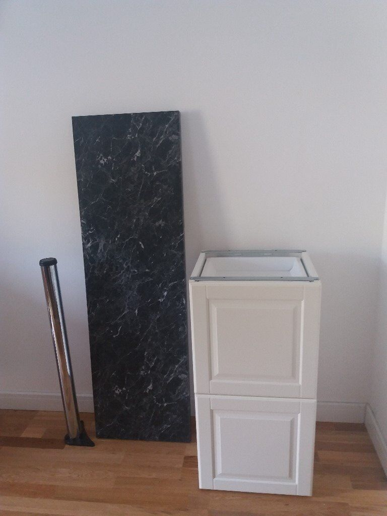 Ikea kitchen base cabinet with two drawers, worktop and a ...