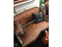 Antique style two seater sofa and two single chairs