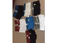 Calvin Klein x boxers / boxer briefs size small medium 13 pairs low rise microfibre trunk
