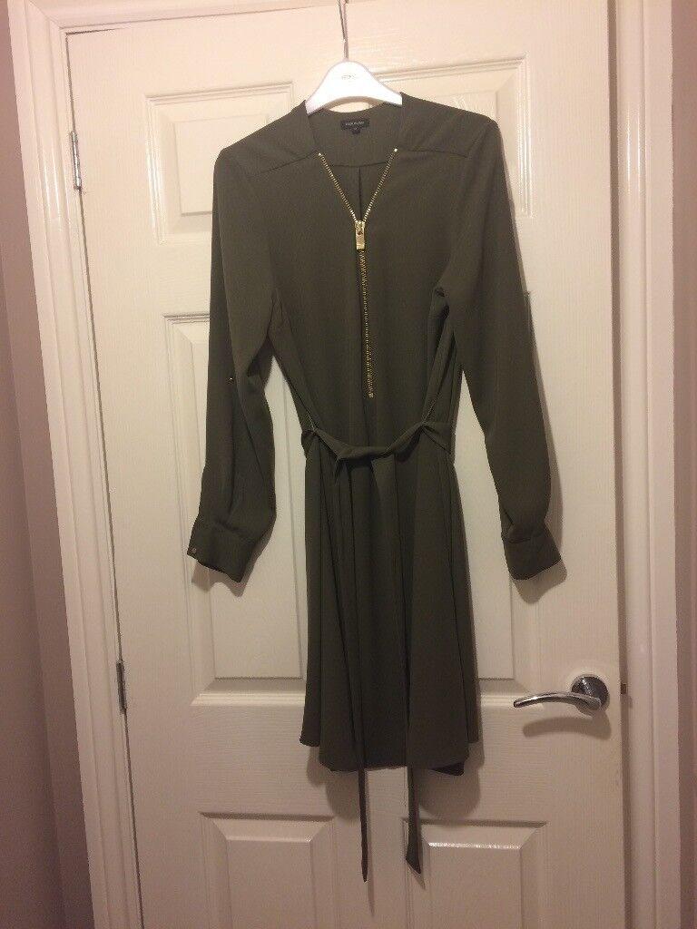 Olive green dress size 12.