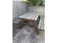 Solid Wooden Garden Table