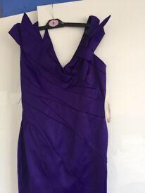 Karen Miller purple cocktail dress