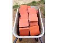 Original reclaimed 6 x 6 red quarry tiles (420 + cuts)