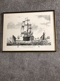 Her MAJELTY's SHIP Picture Frame