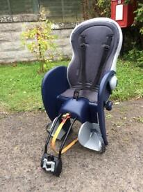 Child's rear mounted bike seat
