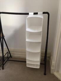 Ikea clothing rail with hanging storage