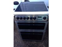 £136.00 Hotpoint sls/Black ceramic electric cooker+60cm+3 months warranty for £136.00