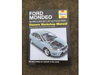 Ford Mondeo Haynes Manual 07 to 61 plate vehicles