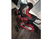 Hauck double incline pushchair with car seat