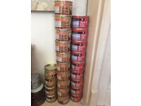 80ML TINS GLOSS PAINT, RED, SILVER, GOLD, CLEAR GLOSS