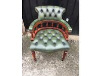 Chesterfield captains chair green (delivery available)