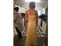 Formal yellow prom/bridesmaid dress size 10