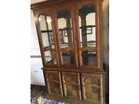 Beautiful solid display cabinet needs a loving home as space is needed