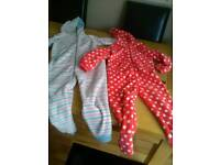2 girls onesies age 6-7 from mothercare