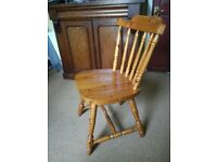 2x solid pine farmhouse style dining chairs
