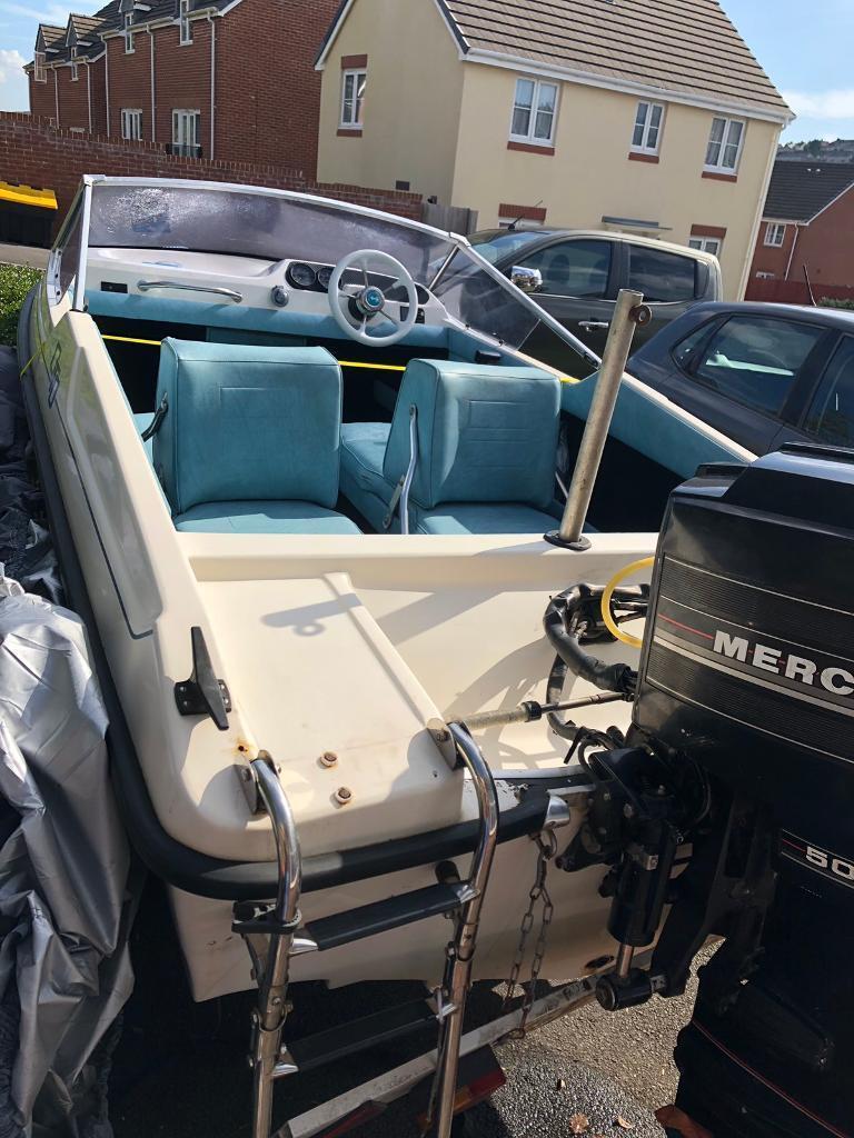 Fletcher arrowsport 14ft speedboat 50hp | in Swansea | Gumtree