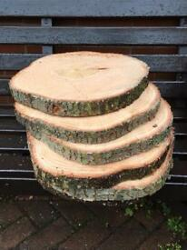 Log Slices - Centrepiece for table - Weddings, parties etc