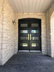 Exterior entry doors, exclusive design modern doors, patio doors, windows, porches, glass inserts, at the best rates!