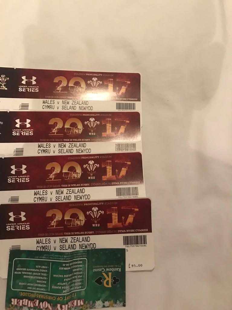 Wales v New Zealand Tickets x10