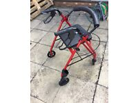 Walking Frame with wheels and seat