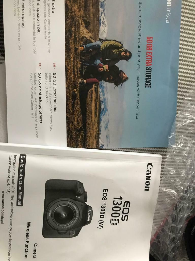 Canon 1300D camera | in Crawley, West Sussex | Gumtree
