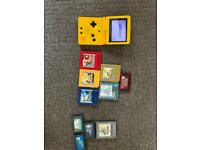 Limited edition gameboy advance sp with games