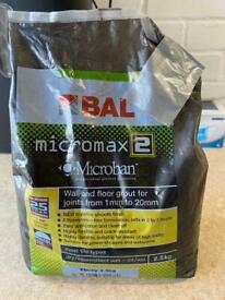 BAL Micromax2 Grout Ebony 2.5Kg