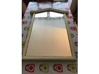 Shabby chic mirror (100x60cm) - Good condition, no scratches etc