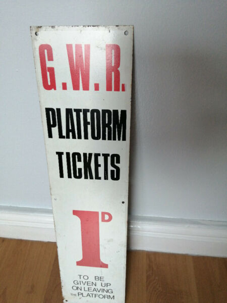 original railway sign not enamel bus stop 1d platform tickets England see 3 images  Belfast for sale  Andersonstown, Northern Ireland
