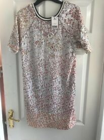 Bnwt size 10 dress from next fully sequined