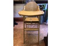 East Coast foldable Wooden Highchair
