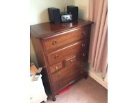 Stag Minstrel Chest of Drawers (Bedroom Furniture Solid Wood Mahogany)