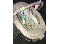Musical and vibrating baby rocker-seat-bouncer , excellent condition